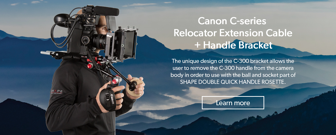 SHAPE HAC300-RE – Canon C series Relocator Extension cable + Handle Bracket