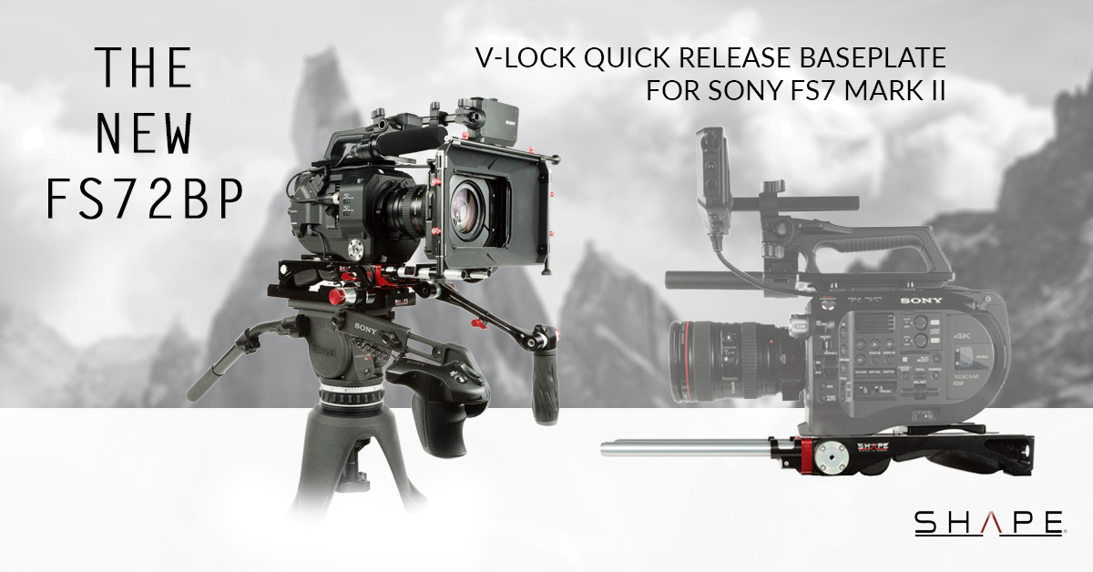 SHAPE FS72BP – SONY FS7M2 V-lock Quick Release Baseplate