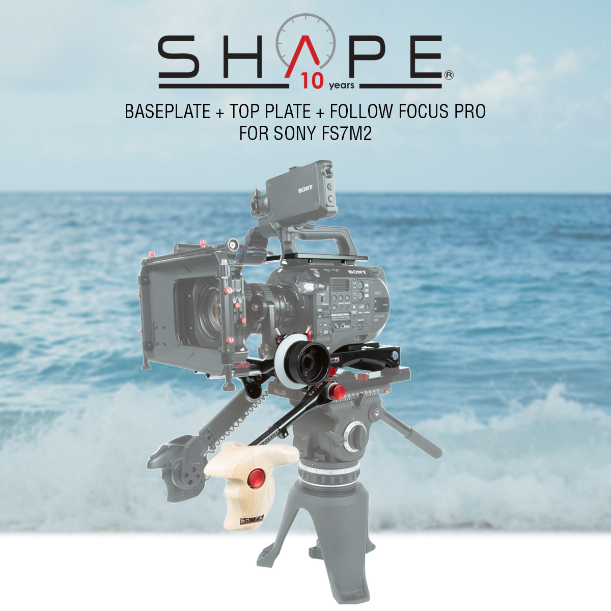 SHAPE FS72FFP – SONY FS7M2 Baseplate Top Plate and Follow Focus Pro