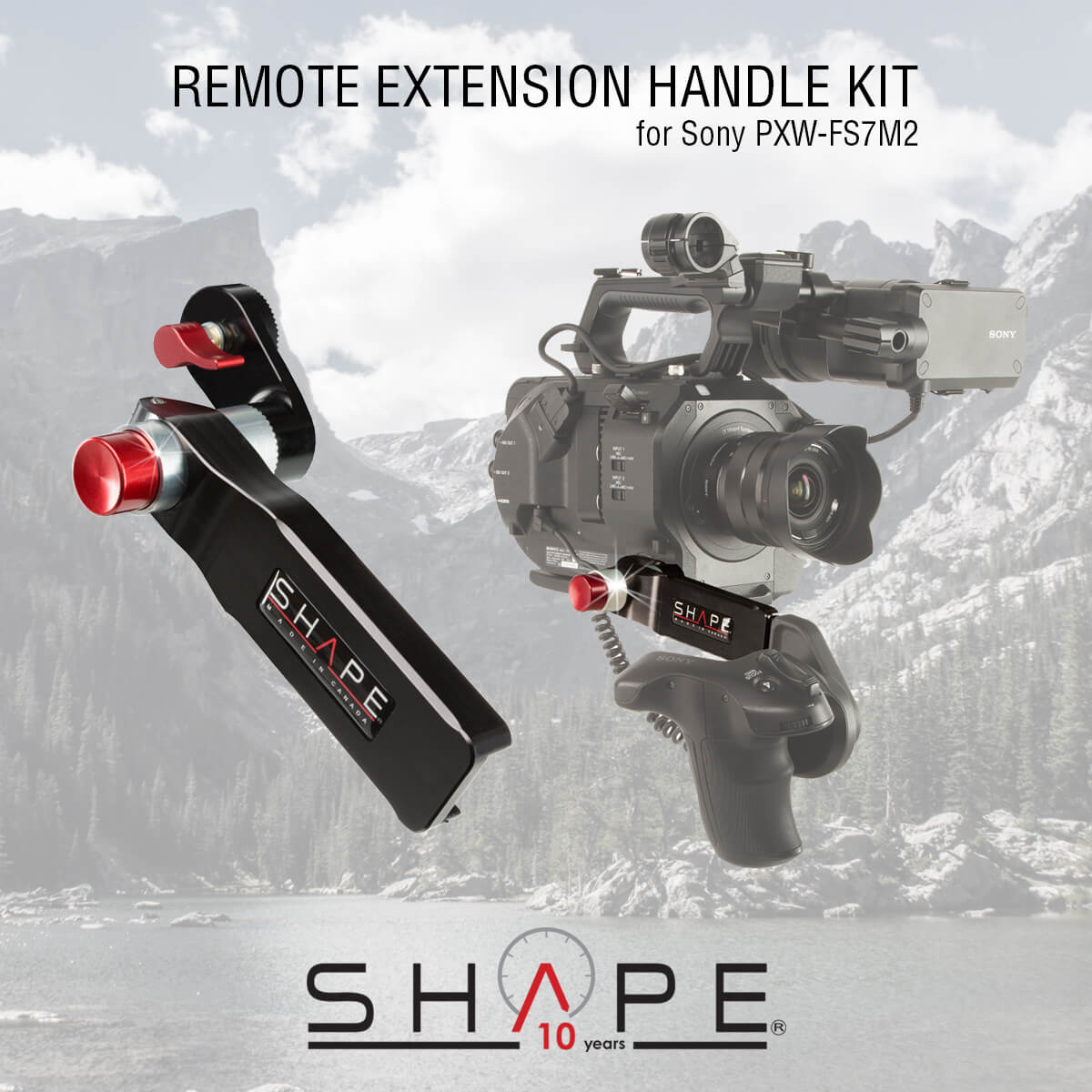 SHAPE RHV2 – SONY FS7M2 Remote Extension Handle Kit