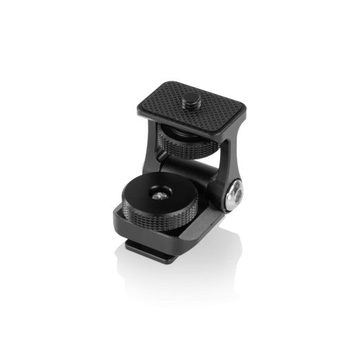 Friction tilt cold shoe mount for monitor, light, microphones