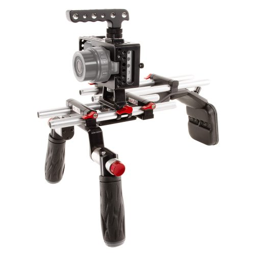 Blackmagic offset rail 15 mm 2-rod bloc