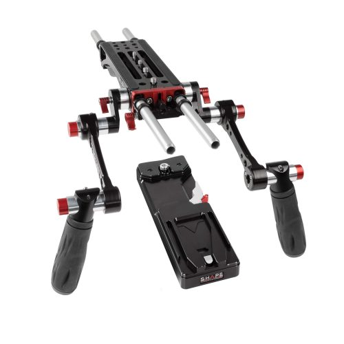 7000 v-lock quick release baseplate (BP0008), tripod plate and double quick handle rosette