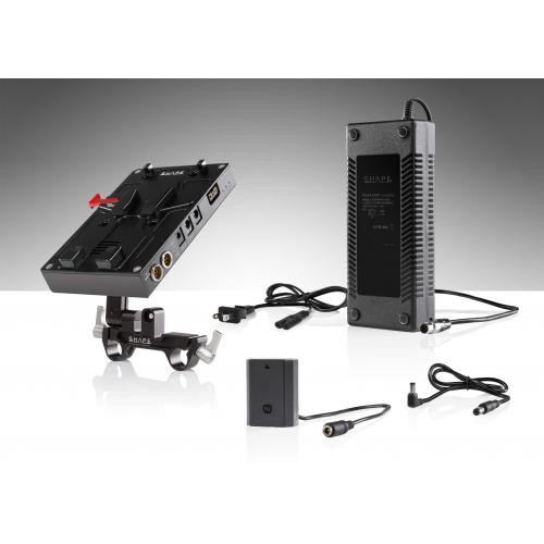 SHAPE J-box camera power and charger for Sony a7R3, a7S3, a73, a7R4 and FX3