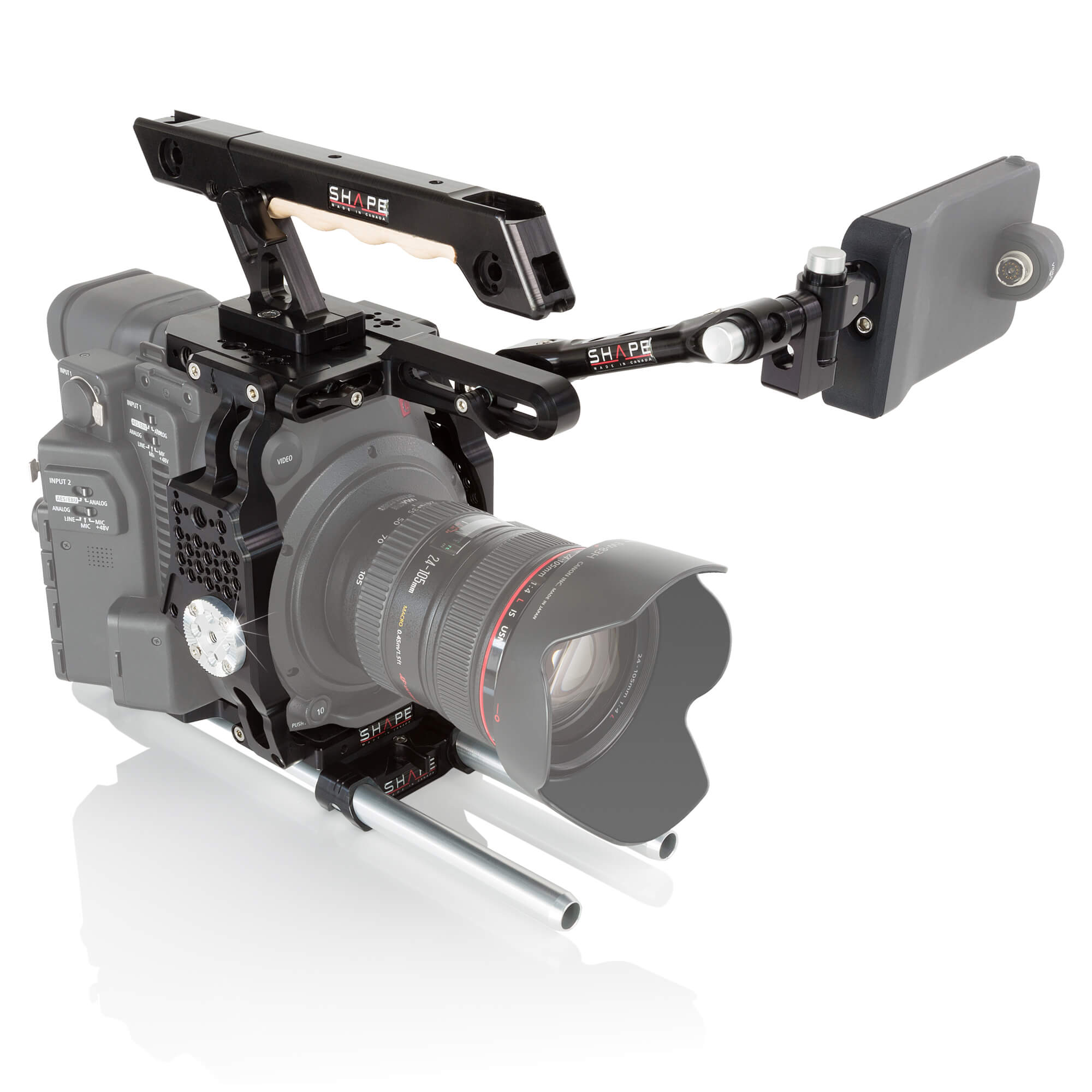 Canon C200 cage handle EVF mount - SHAPE