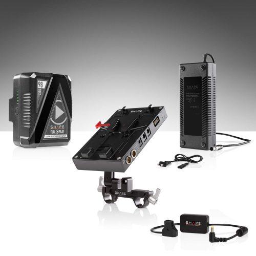 用於 EVA1、FS7、FS7M2、FS5、FS5M2 的 98 WH 電池套件 J-Box攝影機電源和充電器