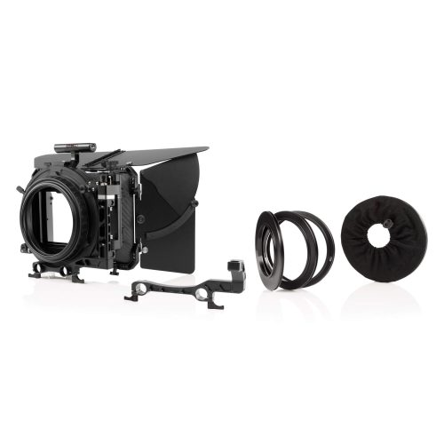 4×5,6″ Carbon Matte Box inklusive French Flag, Seitenflügel, Objektivadapter, Rod Adapter und 360° Filter Halterungen