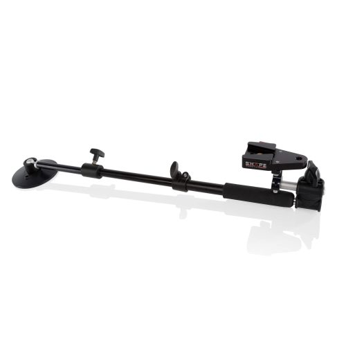 Telescopic support arm rod bloc with quick plate