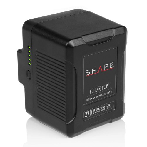 SHAPE FULL PLAY 14.8 V 270 WH rechargeable lithium-ion V-mount battery