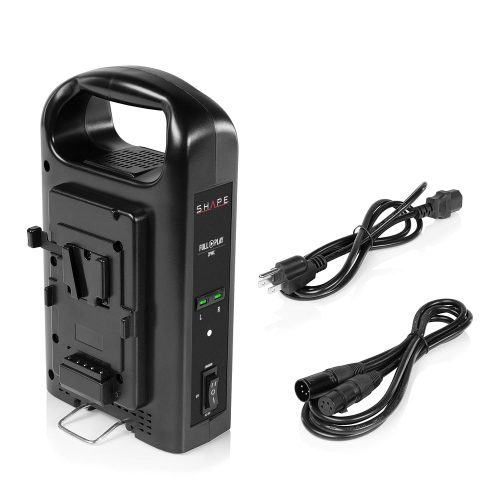 SHAPE FULL PLAY intelligent dual V-mount lithium-ion battery charger
