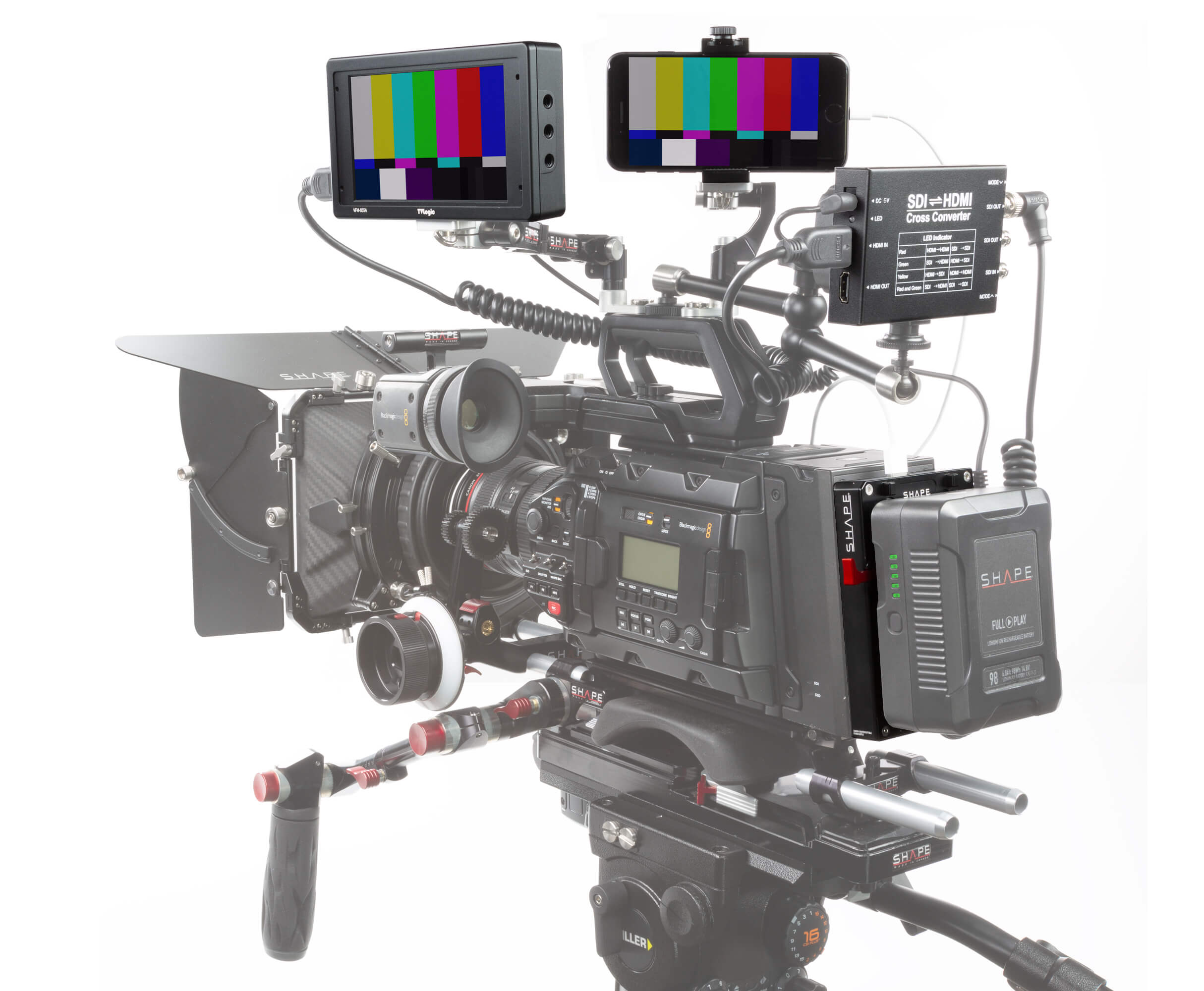 SHAPE d-box camera power and charger for Blackmagic Ursa
