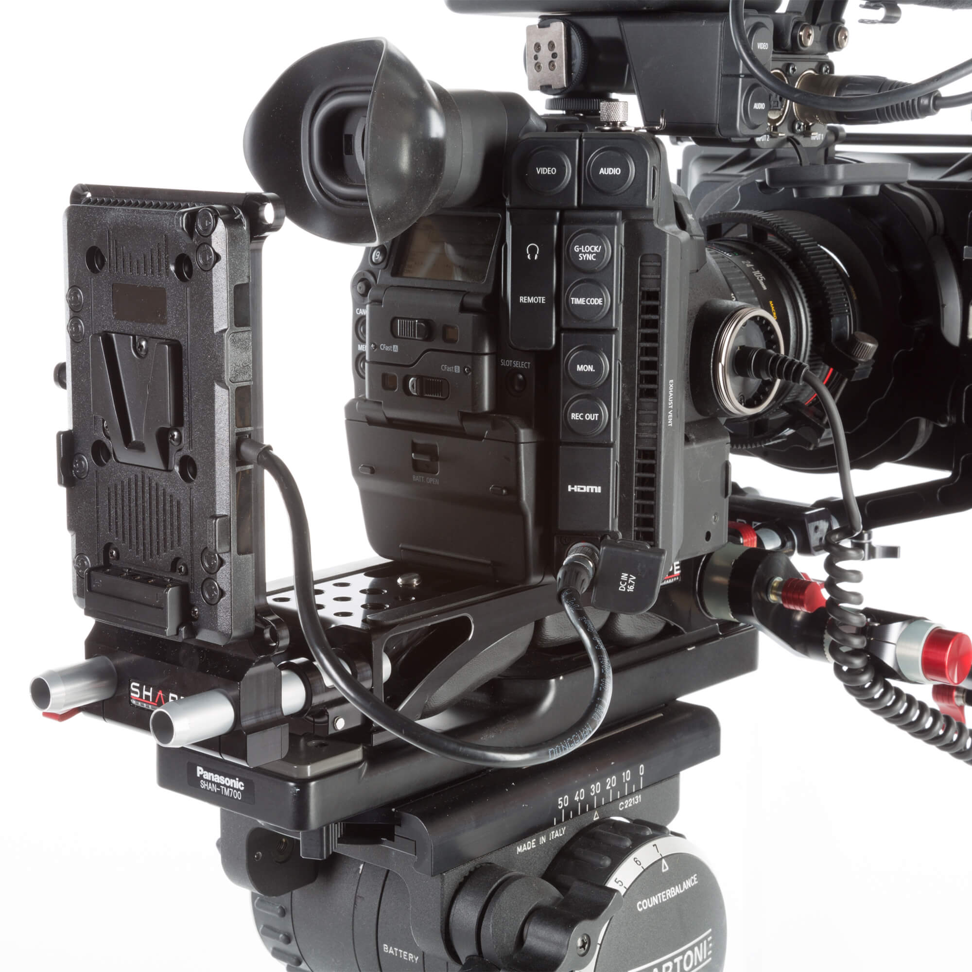 15 mm cheeseplate V-mount for C200 and C300 mark 2 - SHAPE