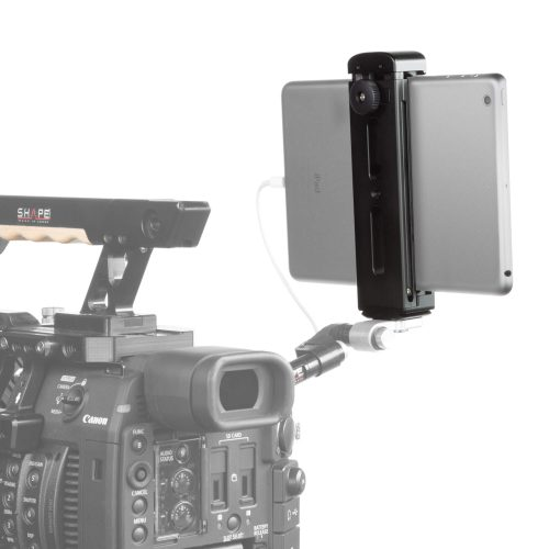 Aluminum tablet tripod mount with cold shoe