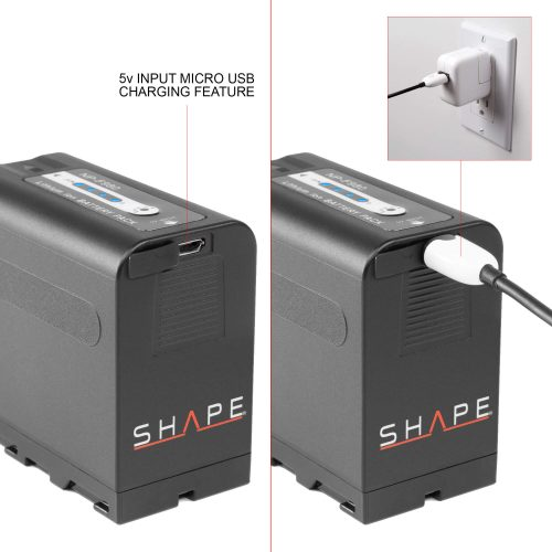 SHAPE NP-F980 lithium-ion battery pack 7.4v 6600 mAh
