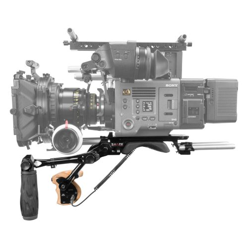Shoulder baseplate 15 mm LW with remote trigger handle for Sony Venice