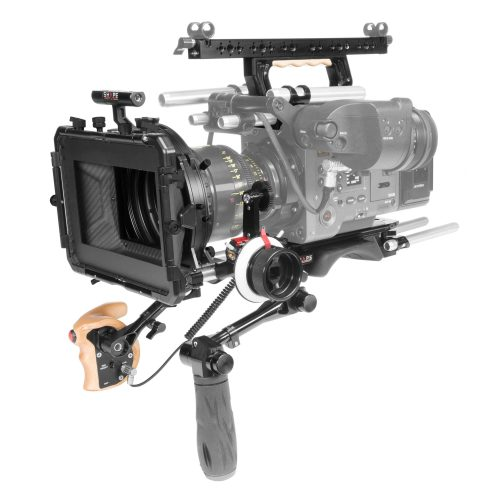 Placa central para el hombro, asa superior, disparador remoto para placa superior, matte box, follow focus para Sony Venice.