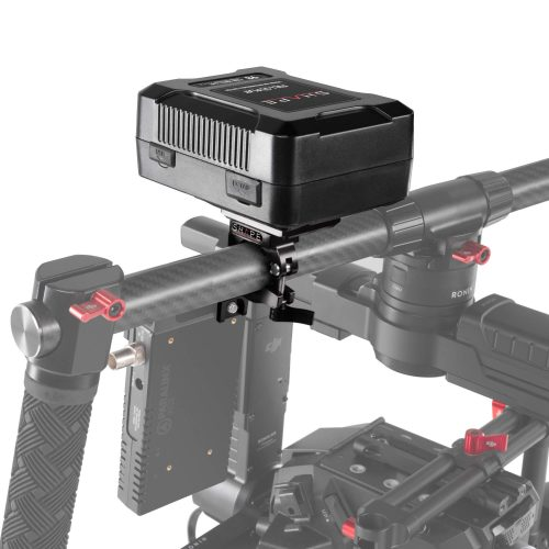 "Batería lithium-ion recargable ""FULL PLAY 14.8 V 98 WH"" de modelo ""V-mount"" para adaptarlo a la barra de 25 mm del Gimbal."