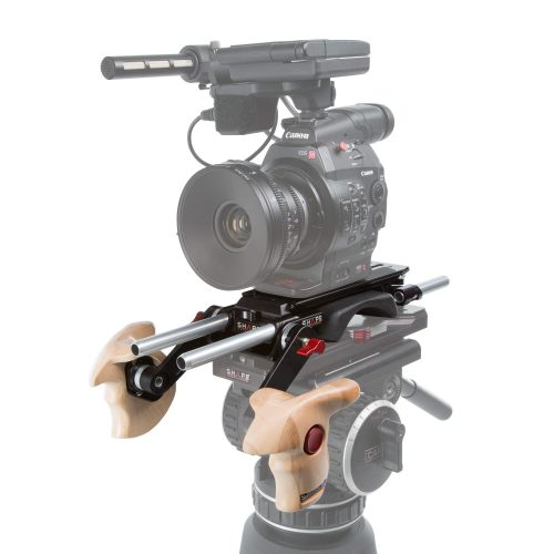 Double wooden handle grip Arri rosette