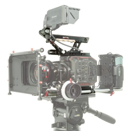 Bundle für Panasonic AU-EVA1 inklusive Baseplate, Top Handle, View Finder Bracket Arm, Top Plate und ein Paar 15mm Rods