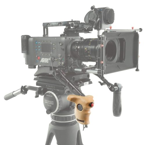 Stop and start wood handle for Arri camera