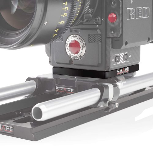 Plaque adaptatrice pour RED DSMC2 compatible avec bridge plate Arri standard 15/19 mm studio