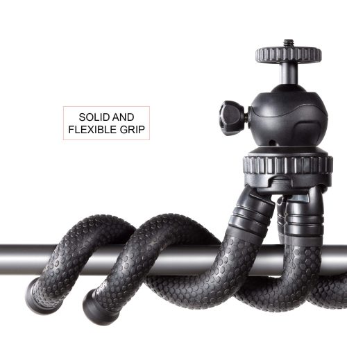 Tripod flexible grip with ball head