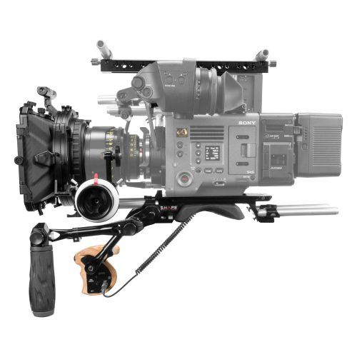 Shoulder baseplate top handle, top plate remote trigger, matte box & follow focus for Sony Venice