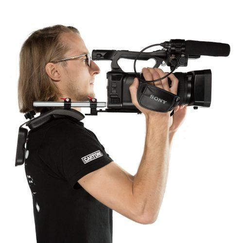 ENG Style camcorder shoulder mount