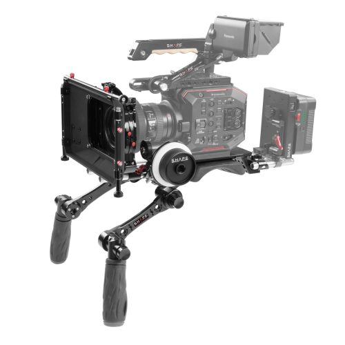 Compact REVOLT shoulder baseplate (BP20) with follow focus, HAND15 shadow and matte box kit