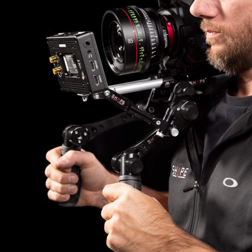 Compact quick handle Arri rosette black