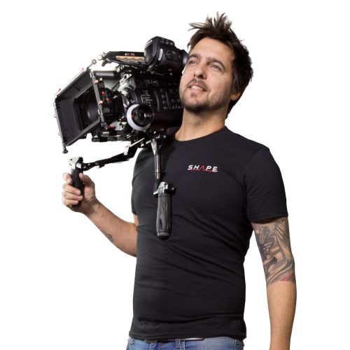 Placa central de hombro compacta REVOLT (BP20) con Follow Focus, kit de Matte Box y Shadow HAND15