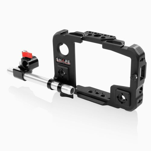 Cage for Atomos Shinobi monitor with 15 mm LWS swivel rod clamp