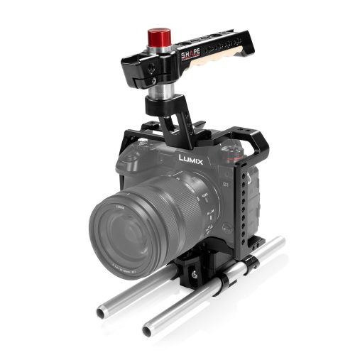 Cage,Quick-Release Rod Base System und Top Handle aus Holz für Panasonic Lumix S1R/S1 Kameras