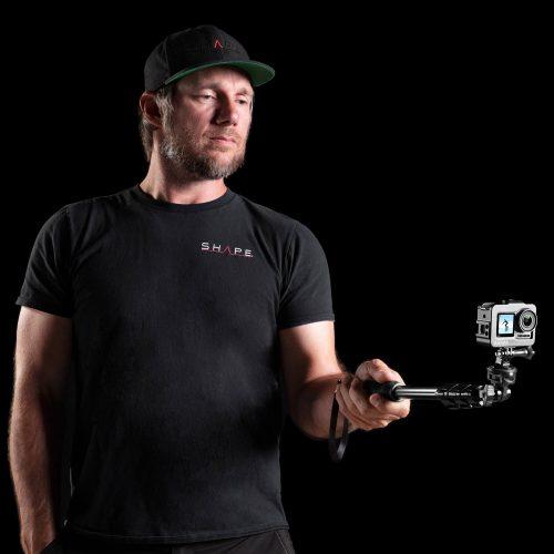 用於大疆靈眸運動相機的 SHAPE 保持架和伸縮單腳架