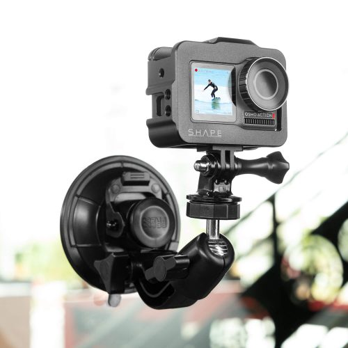 SHAPE cage for DJI Osmo action camera with suction cup and ball head