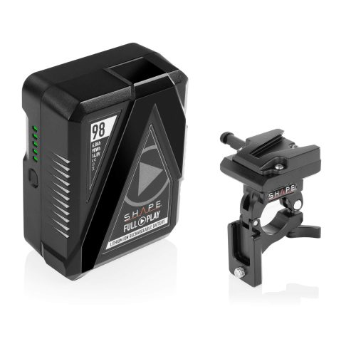 SHAPE FULL PLAY14.8 V 98 WH rechargeable lithium-ion V-mount battery with V-mount battery dock clamp for 25 mm gimbal handlebar