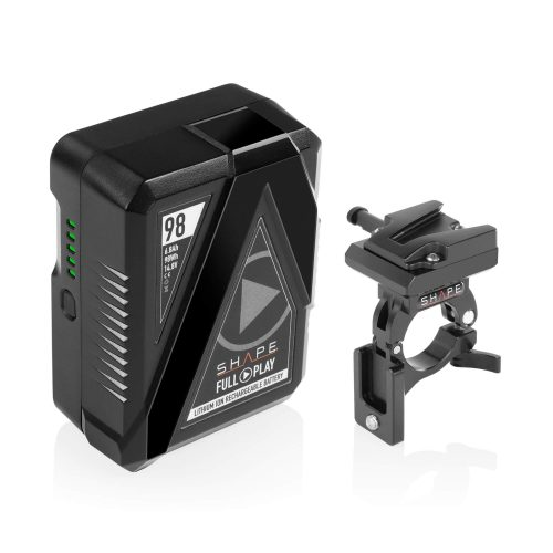 "Batería lithium-ion recargable ""FULL PLAY 14.8 V 98 WH"" de modelo ""V-mount"" para adaptarlo a la barra de 30 mm del Gimbal."