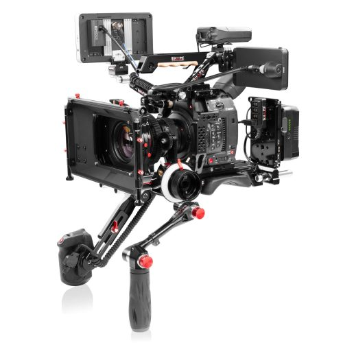 Soporte para Canon C200 con base central, Follow Focus y Matte Box