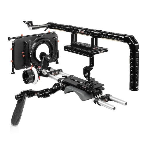 Sony FX9 baseplate, cage, top handle, long VF, 4×5.6 matte box, follow focus pro