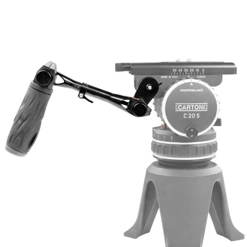Cartoni tripod pan telescopic handle with push-button
