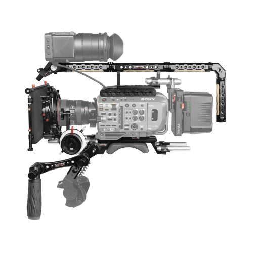 Placa central para Sony FX9, jaula de proteccion, mango superior, VF largo,  Matte Box 4×5.6, Follow Focus pro