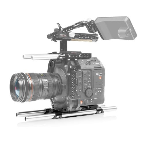 Placa central ligera para Canon C500 mark II con tubos de 15mm