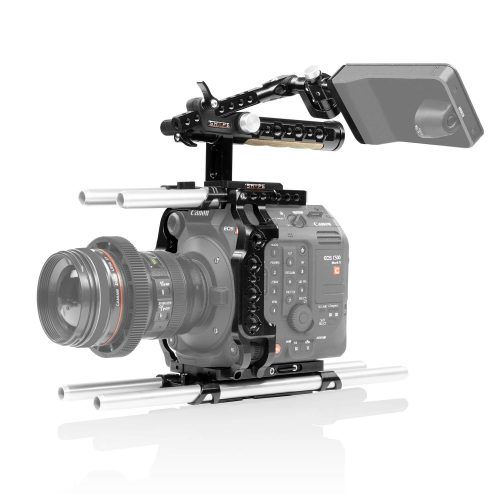 Canon C500 Mark II cage and handle with EVF mount