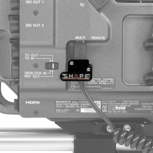 SHAPE cable clamp for Sony FX9 remote handle