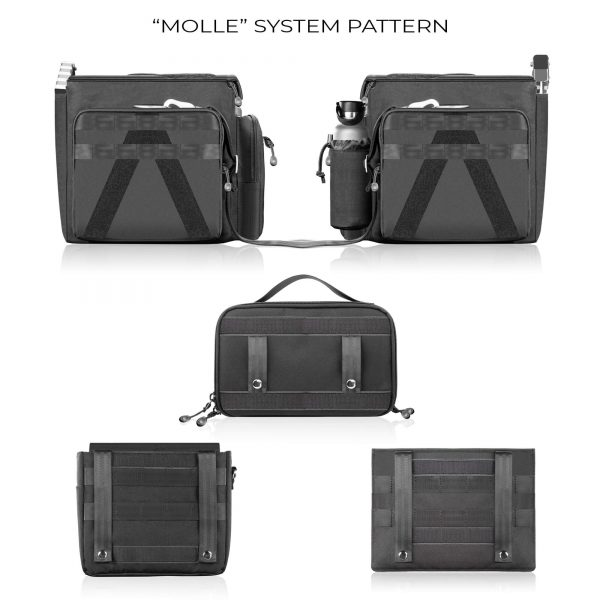 12 Shape Sbag Molle System Pattern With Pouches