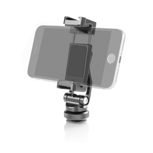 Friction swivel and tilt smartphone aluminum clamp