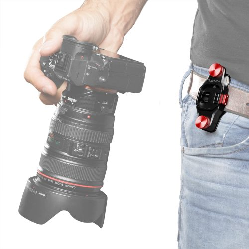 Aluminum camera holster with quick release