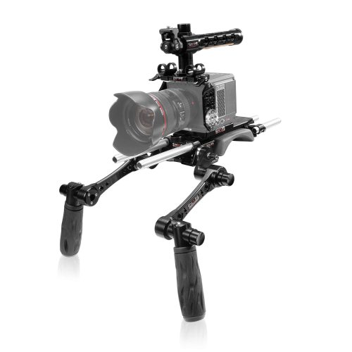 SHAPE RED® KOMODO™ camera cage, shoulder baseplate with handles