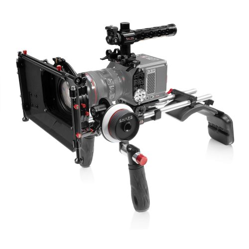 SHAPE RED® KOMODO™ shoulder mount with Matte box and Follow Focus
