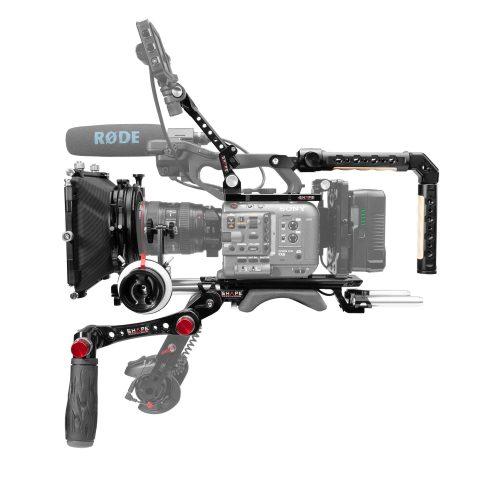 Sony FX6 baseplate, plaque supérieure, poignée supérieure, Quick handle, monture viewfinder, matte box et follow focus pro